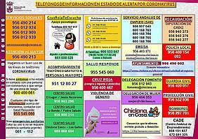 Cartel teléfonos Estado de Alarma ante el Covid19