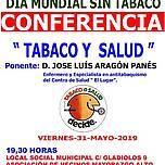 Cartel informativo de la conferencia